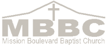 Mission blvd. Baptist Church logo of roofline and name